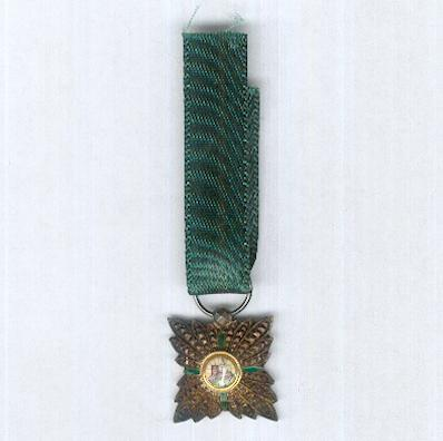 Imperial Order of the Lion and the Sun, civil division (Nishan-i-Shir u Khurshid, nishan-i-hormat), V class, 1820-1925 issue, miniature