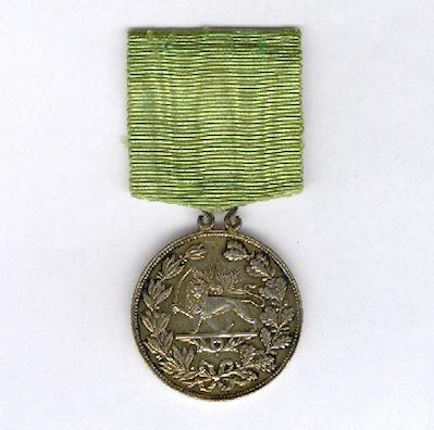 Imperial Order of the Lion and the Sun, military division (Nishan-i-Shir u Khurshid, nishan-i-shuja'at), silver-gilt medal dated 1317AH (1899AD)