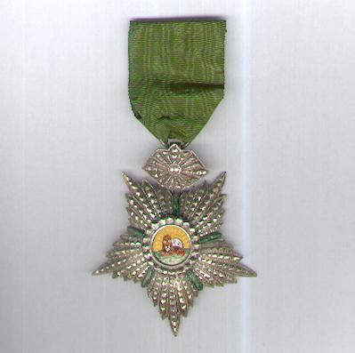 Imperial Order of the Lion and the Sun, civil division (Nishan-i-Shir u Khurshid, nishan-i-hormat), IV class
