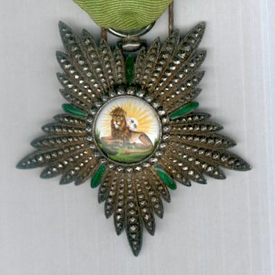 Imperial Order of the Lion and the Sun, civil division (Nishan-i-Shir u Khurshid, nishan-i-hormat), IV class, by Gustave Wolfers of Brussels, circa 1900