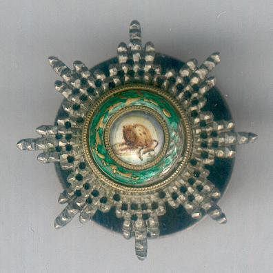 Imperial Order of the Lion and the Sun, civil division (Nishan-i-Shir u Khurshid, nishan-i-hormat), breast star, with screw-back suspension, miniature