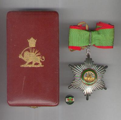 Order of Homayoun (Nishan-i-Homayoun), III class, in case of issue by Arthus Bertrand of Paris