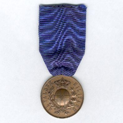 Military Medal for Valour, bronze (Medaglia al Valore Militare, bronzo), 1887-1945 issue