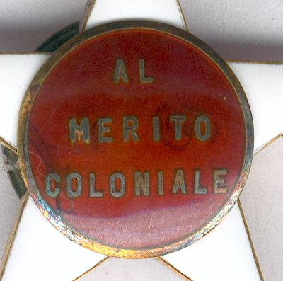 Colonial Order of the Star of Italy, knight (Ordine Coloniale della Stella d'Italia, cavaliere)