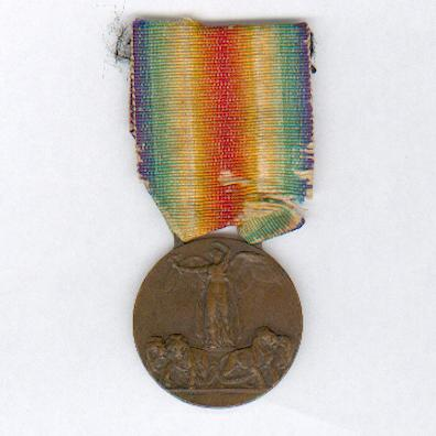 Inter-Allied Victory Medal, Italian issue (Medaglia della Vittoria Interalleata), 1914-1918 by Stefano Johnson of Milan (Laslo Official Type 2)