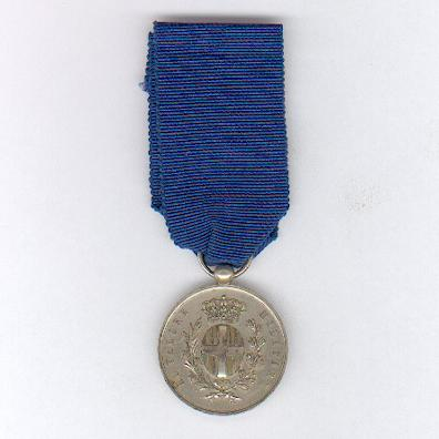 Military Medal for Valour, 'silver' (Medaglia al Valore Militare, 'argento'), unofficial issue, second half of the 19th Century, with a Royal Horse Artillery Crimean attribution