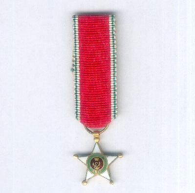 Colonial Order of the Star of Italy, knight (Ordine Coloniale della Stella d'Italia, cavaliere), miniature