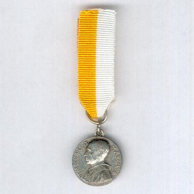Medal of Pope Pius XII, miniature