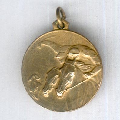 Agnano Racecourse, Naples, Medal for the Inaugural Race Meeting, 13 June 1935 (Società Ippodromo di Agnano, Napoli, Medaglia della Riunione Inaugurale Galoppo, 13 Giugno 1935), miniature