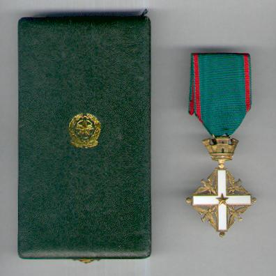 Order of merit of the italian republic knight in case of for Awards and decoration