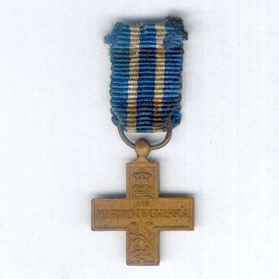 Cross for War Merit (Croce al Merito di Guerra), Royal issue, miniature