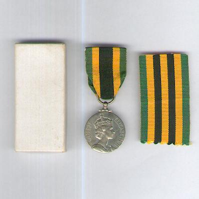 Jamaica Independence Medal, 1962, in pasteboard case of issue