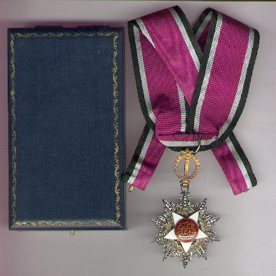 Royal Order of Independence (Wisam al-Istiqlal), Commander, in original fitted case of issue by Garrard & Co Ltd