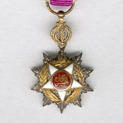 Royal Order of Independence (Wisam al-Istiqlal), knight, miniature