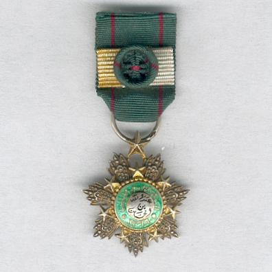 Order of the Star of Jordan (Wisam al-Kawkab al-Urdani), officer, miniature