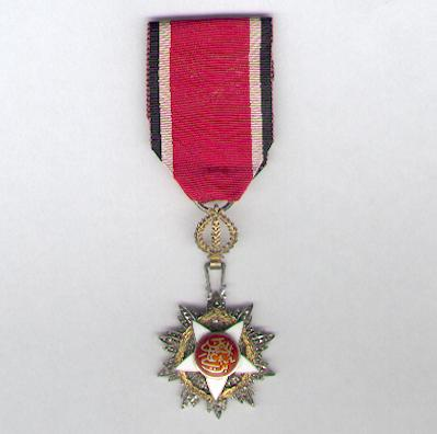 Royal Order of Independence (Wisam al-Istiqlal), knight, by Garrard & Co Ltd, hallmarks for Birmingham 1957