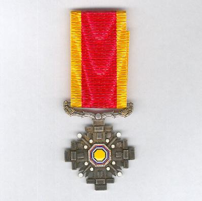 Manchukuo.  Order of the Pillars of State, VI to VIII class, 1936-1945