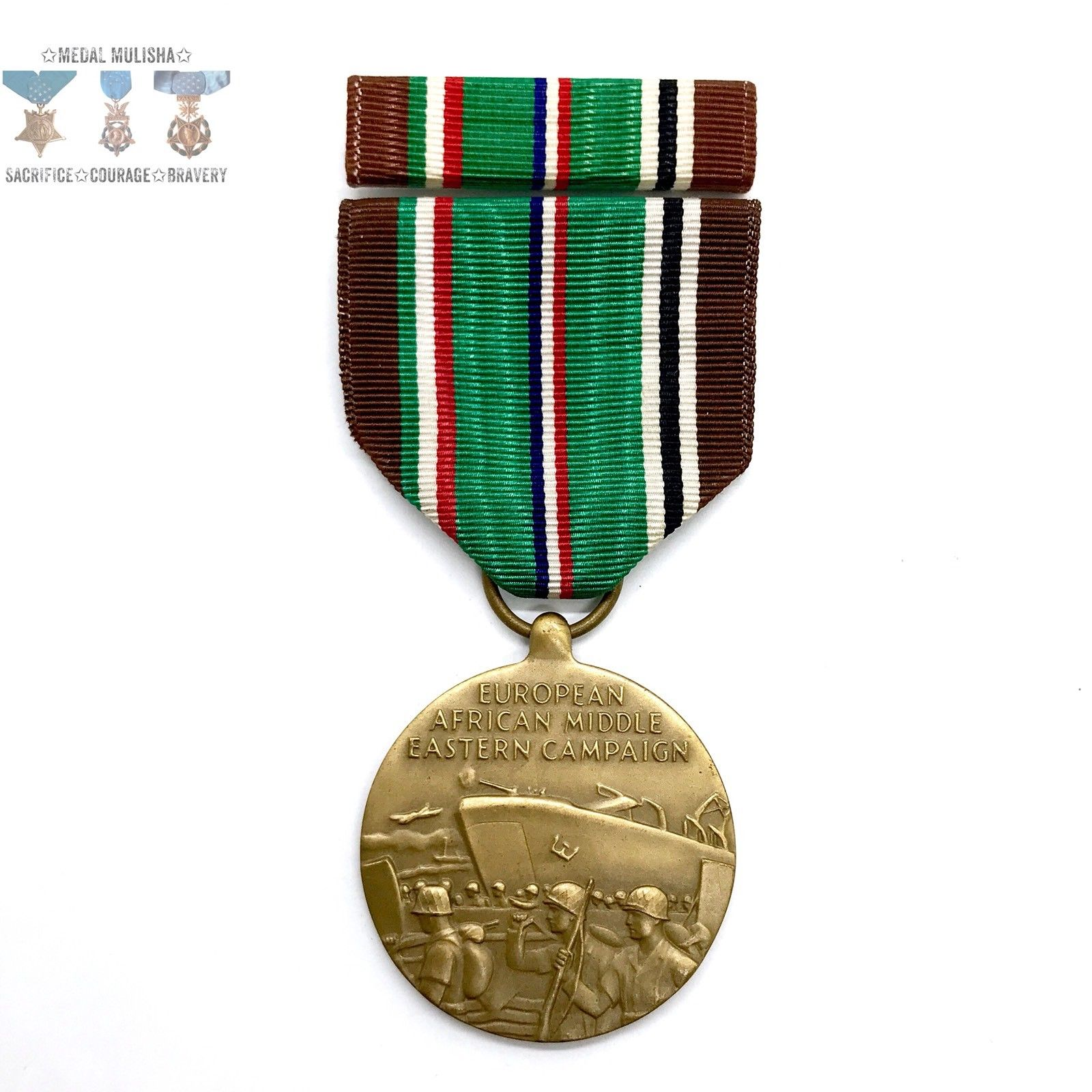 European-African-Middle Eastern Campaign Medal, 1941-1946 with ribbon bar