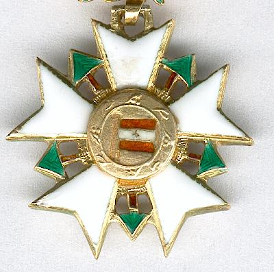 National Order of the Cedar, knight (Ordre National du Cèdre, chevalier), miniature