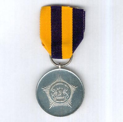 Lesotho Mounted Police Service Long Service and Good Conduct Medal, version since 1997, attributed