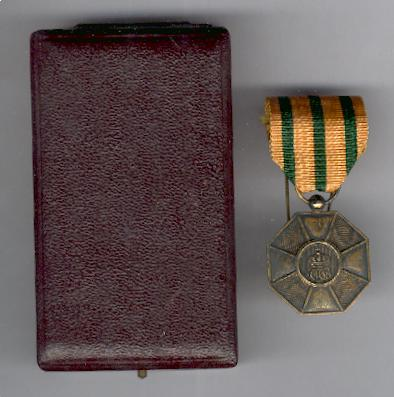 Order of the Crown of Oak, bronze medal (Ordre de la Couronne de Chêne, médaille de bronze) in case of issue