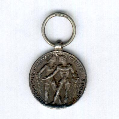 Order of Sporting Merit, Silver Medal (Ordre du Mérite Sportif, Médaille d'Argent), miniature, by De Greef of Brussels