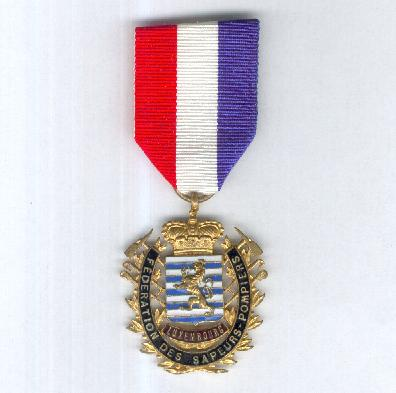 Medal of the National Federation of Fire Brigades (Médaille de la Fédération Nationale des Corps de Sapeurs Pompiers)