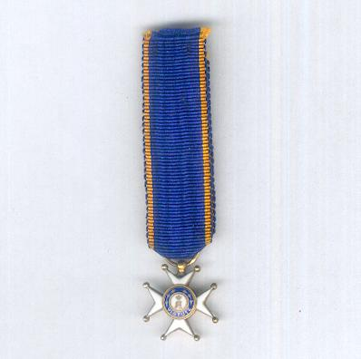 Civil and Military Order of Merit of Adolph of Nassau, knight (Ordre Ducal du Mérite Civil et Militaire d'Adolphe de Nassau, chevalier), miniature