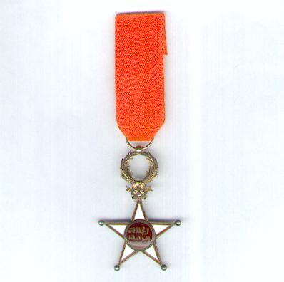 Order of Ouissam Alaouite, knight, 2nd type (Ordre du Ouissam Alaouite, chevalier, 2ème type)