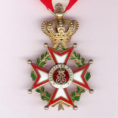 Order of Saint Charles, knight (Ordre de Saint Charles, chevalier) in fitted case of issue by Arthus Bertrand of Paris