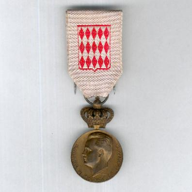 Commemorative Medal for the Enthronement of Prince Rainier III, silver-gilt (Médaille Commémorative de l'Intronisation de Prince Rainier III, en vermeil), 1949 by Adrien Chobillon, Paris