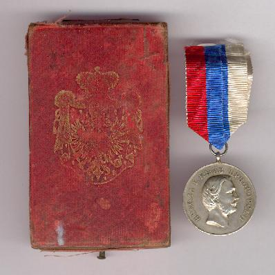 Medal for Zeal in original embossed fitted case of issue by V. Mayer of Vienna