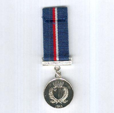 George Cross 50th Anniversary Medal, miniature