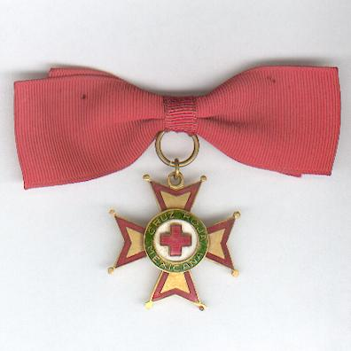 Medal of Honour and Merit of the Mexican Red Cross, 'gold' (Medalla de Honor y Mérito de la Cruz Roja Mexicana, 'oro') on ladies' bow