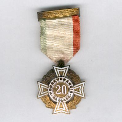 Cross of Perseverance, IV class for 20 years' service (Cruz de Perseverancia, IVa clase por 20 años de servicio), 1926 issue, 1st series