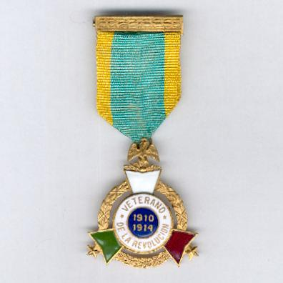 Cross of the Veterans of the Revolution (Cruz 'Veterano de la Revolución') 1910-1914
