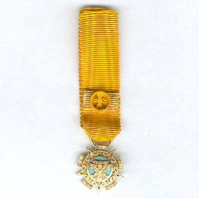 Order of the Aztec Eagle, I class (Orden Mexicana del Aguila Azteca, Ia clase), miniature
