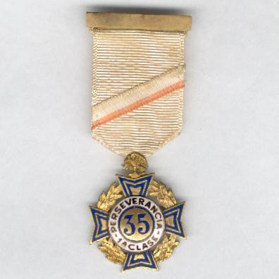 Cross of Perseverance, I class for 35 years' service (Cruz de Perseverancia, Ia clase por 35 años de servicio), 1926 issue, 1st series