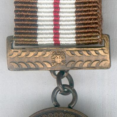 Defence Force Service Medal, bronze, for 10 years' service, miniature