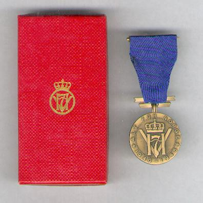 King Haakon VII's Freedom Medal (Konge Haakon VII's Frihetsmedalje), 1940-1945, 1988 issue, in case of issue