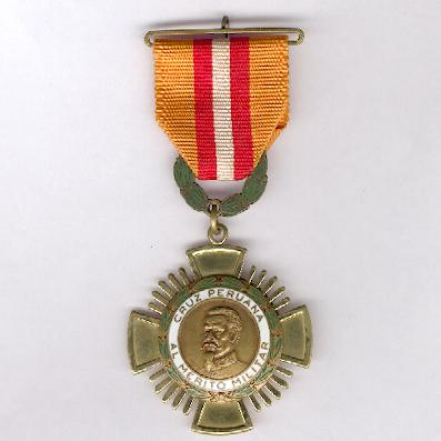 Cross of Military Merit (Cruz Perúana al Merito Militar), knight