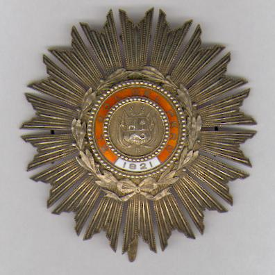 Order of the Sun, Grand Cross breast star, by Lemaître of Paris