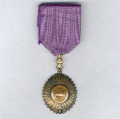 Order of Merit for Distinguished Service, officer (Orden al Mérito por Servicios Distinguidos, oficial), by the Casa de Moneda, Lima