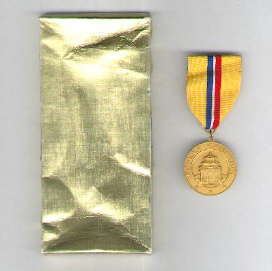 Korean Campaign Medal, 1950-1954 in original box of issue by El Oro of Quezon City