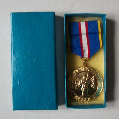 Philippine Independence Medal, 1946, in pasteboard case