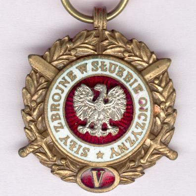 Armed Forces in the Service of the Country, Long Service Medal (Medal Siły Zbrojne w Słuźbie Ojczyzny) for five years' service