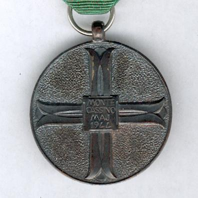 Commemorative Medal for the 25th Anniversary of the Battle of Monte Cassino