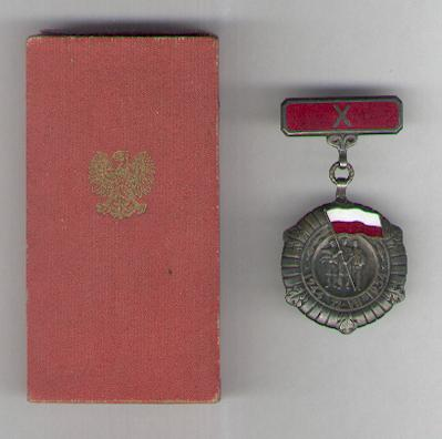 Commemorative Medal for Ten Years of People's Poland (Medal 10-Lecia Polski Ludowej) 1954, numbered, in case of issue