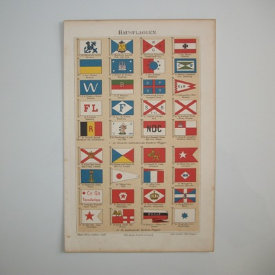 Shipping Company House Flags (Hausflaggen von Reederein), 1895