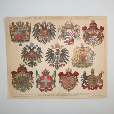 Arms of the Most Important Civilised Countries (Wappen der Wichtigsten Kulturstaaten), 1892